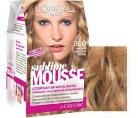 L`oreal Soublime Mousse 900 чист.светл.блонд