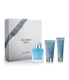 Dolce Gabbana Light Blue Eau Intense man set (100ml edp+75ml бальзам п/бр+50ml гель д/душа)