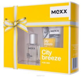Mexx City Breeze woman set (15ml edt +50ml гель д/душа)