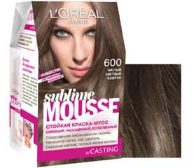 L`oreal Soublime Mousse 600 чист.светл.каштан